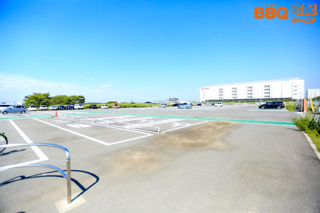 海とのふれあい広場の駐車場