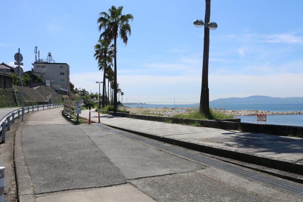 江井ヶ島駐車場からBBQエリア