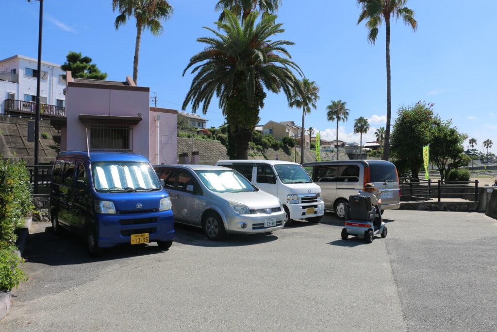 江井ヶ島海岸BBQエリアの無料駐車場