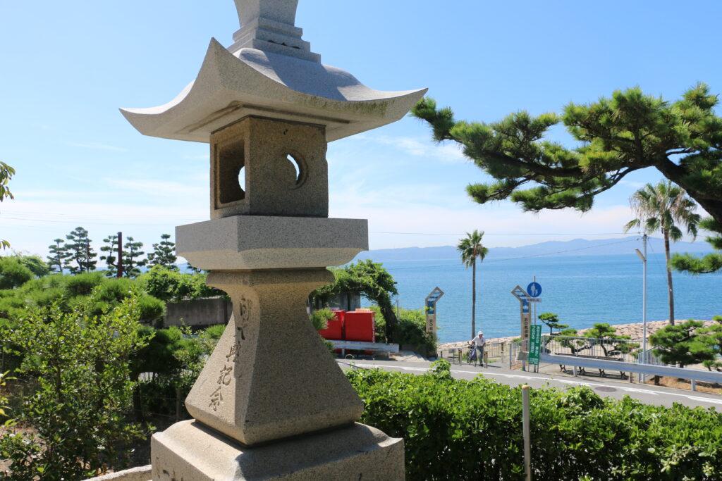 江井島住吉大社からの眺め
