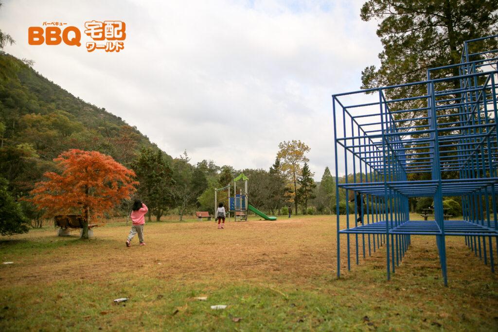 古法華自然公園キャンプ場の遊具広場