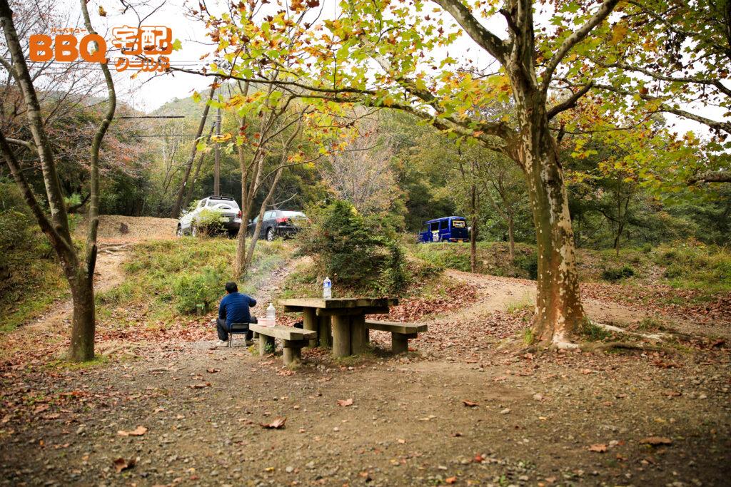 古法華自然公園キャンプ場の坂道