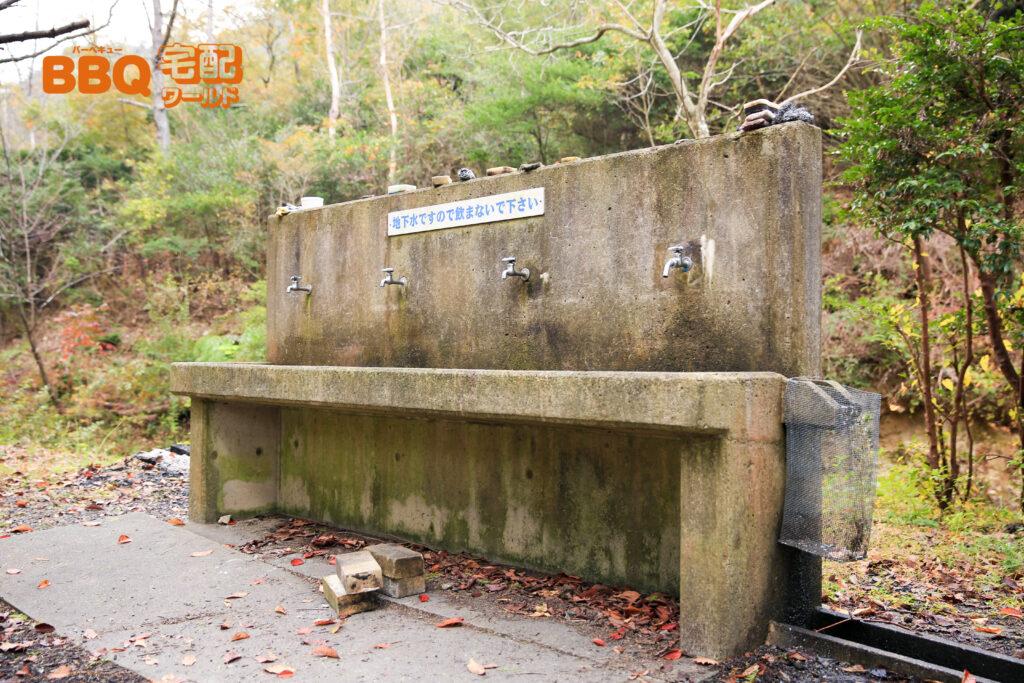古法華自然公園のBBQサイト水道
