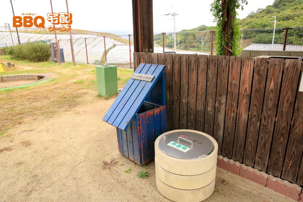 グレープヒル公園BBQ広場のゴミ箱