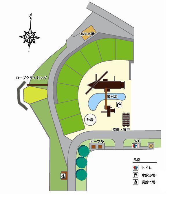 グレープヒル公園BBQ広場の配置図