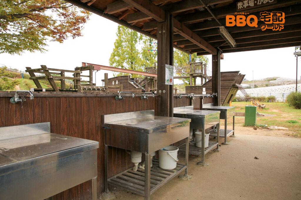 グレープヒル公園BBQ広場の炊事場