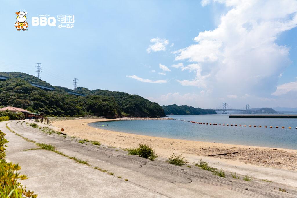伊毘うずしお村キャンプ場の海水浴場1