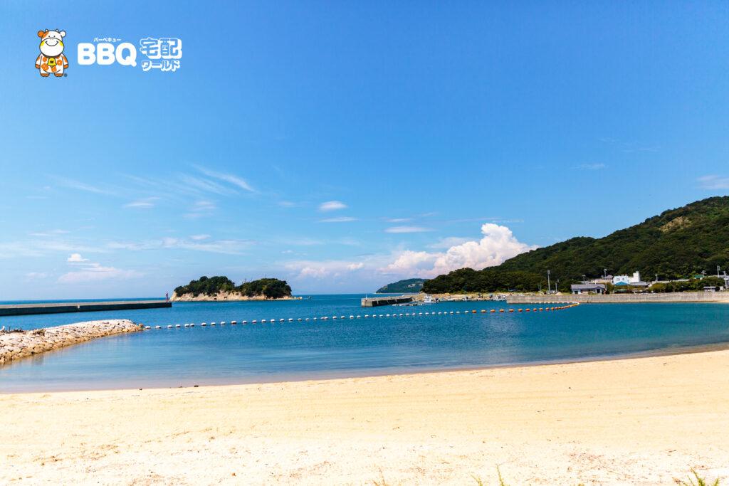 伊毘うずしお村キャンプ場の海水浴場2