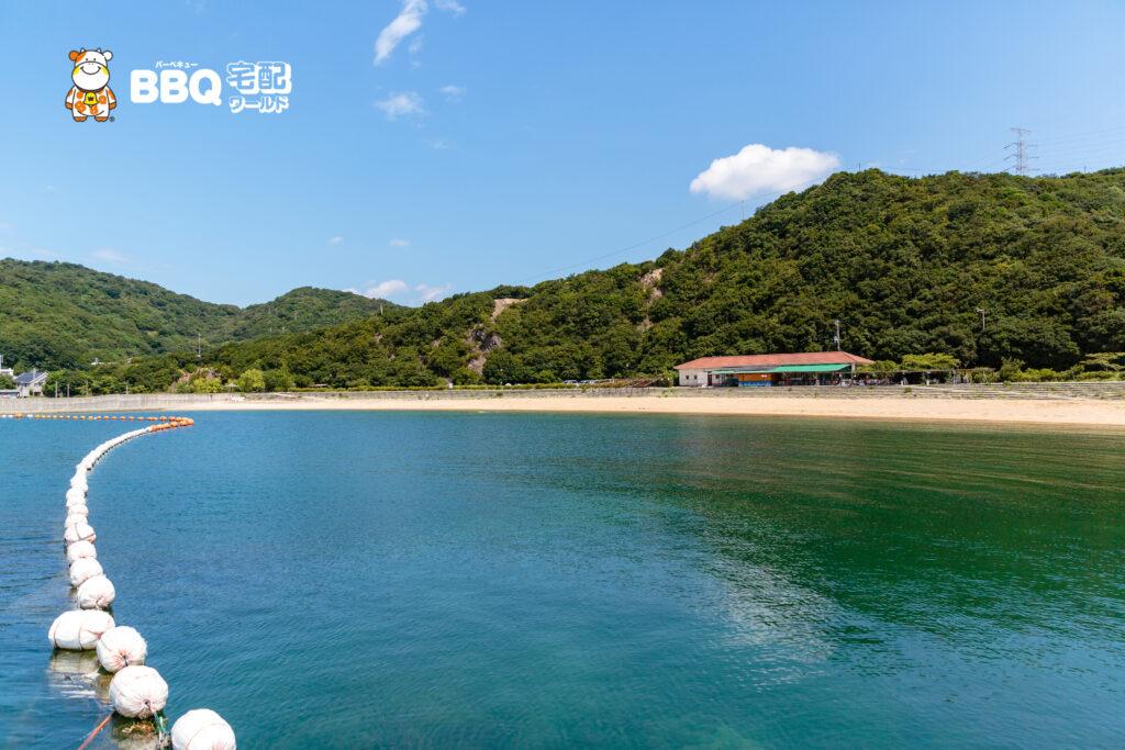 伊毘うずしお村キャンプ場の海水浴場5