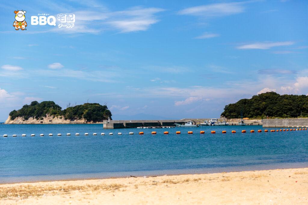 伊毘うずしお村キャンプ場の海水浴場6