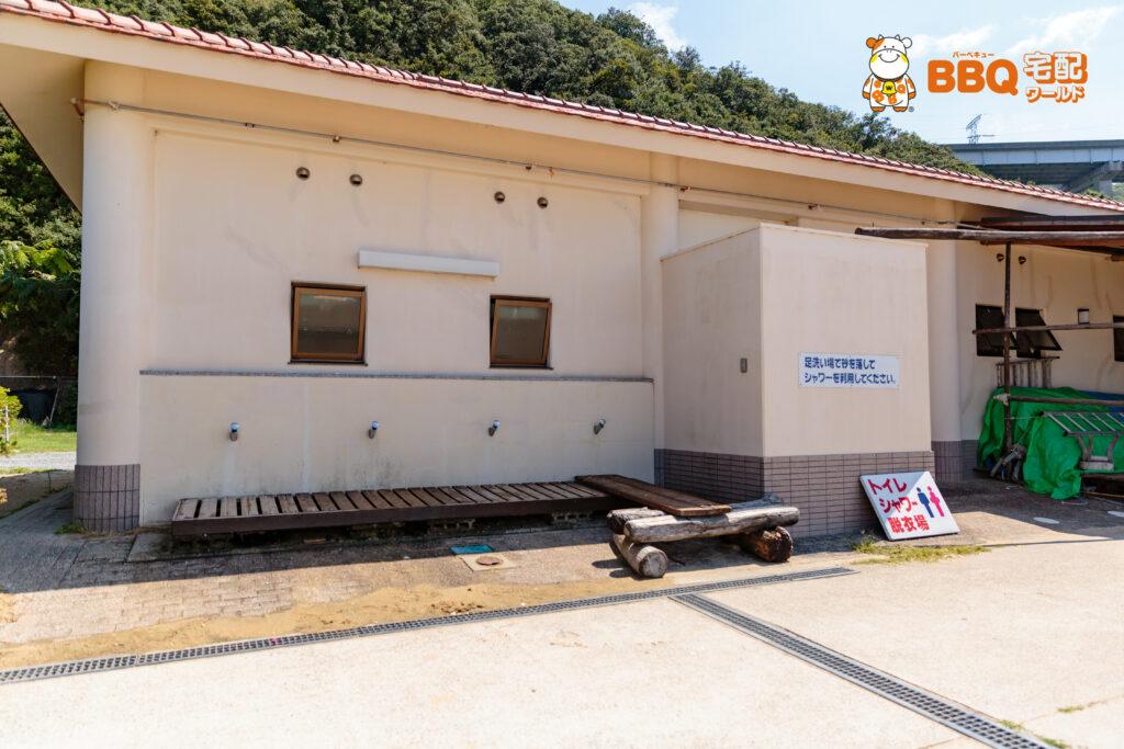 伊毘うずしお村キャンプ場の足洗い場