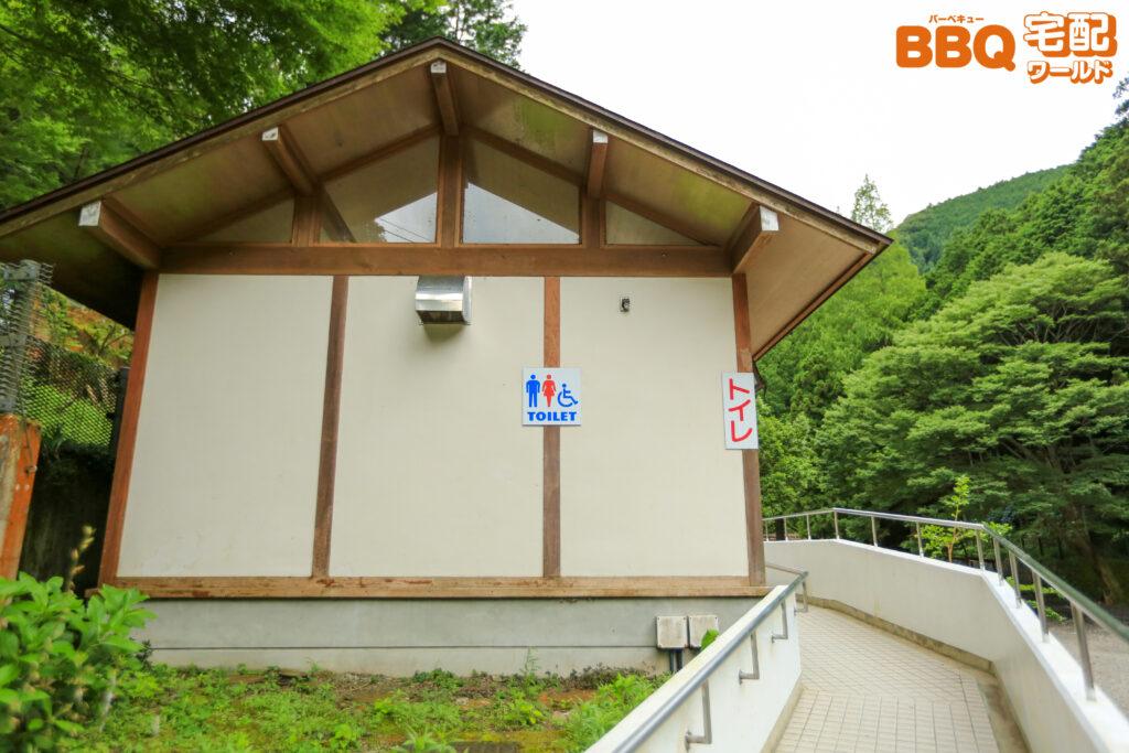 光滝寺キャンプ場のトイレ