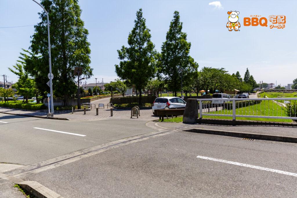 野添であい公園のBBQ専用駐車場