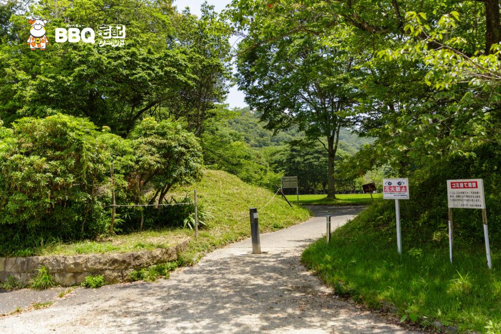 志方東公園駐車場からBBQ場までの道