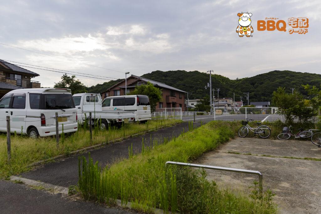 淡路島・炬口海水浴場駐車場からの道