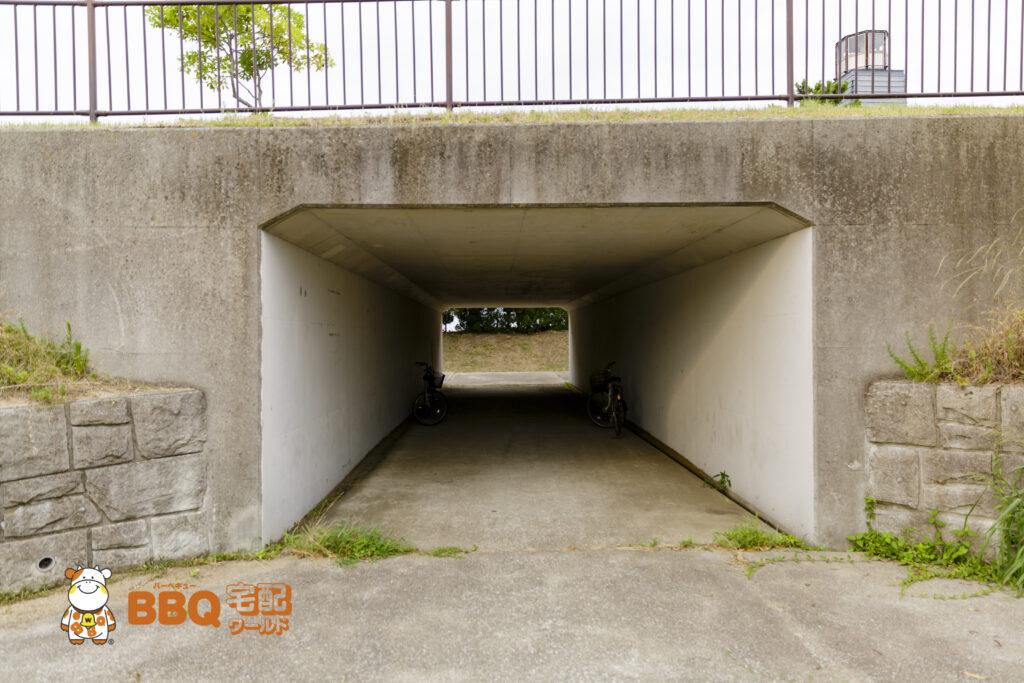 淡路島・炬口海水浴場駐車場からの道1