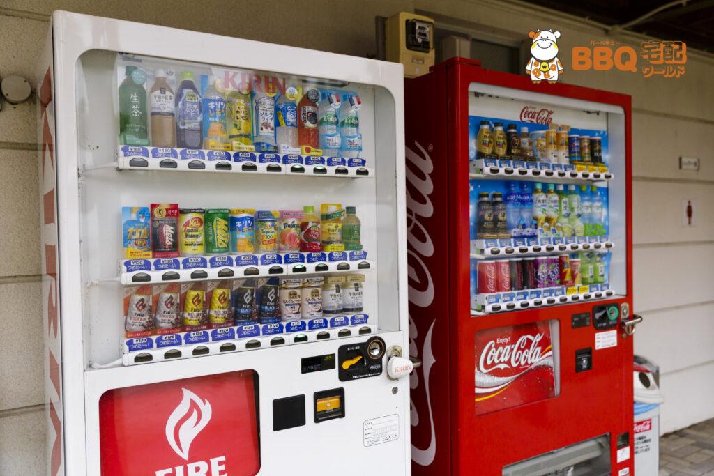淡路島・炬口海水浴場自動販売機