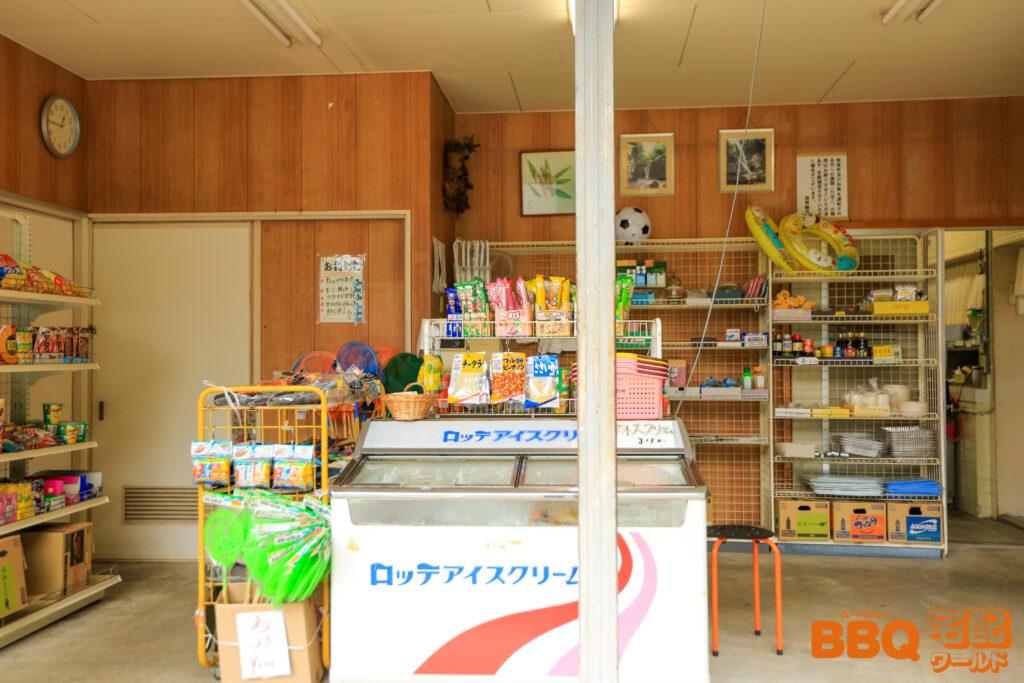 滝畑湖畔BBQ場の売店2