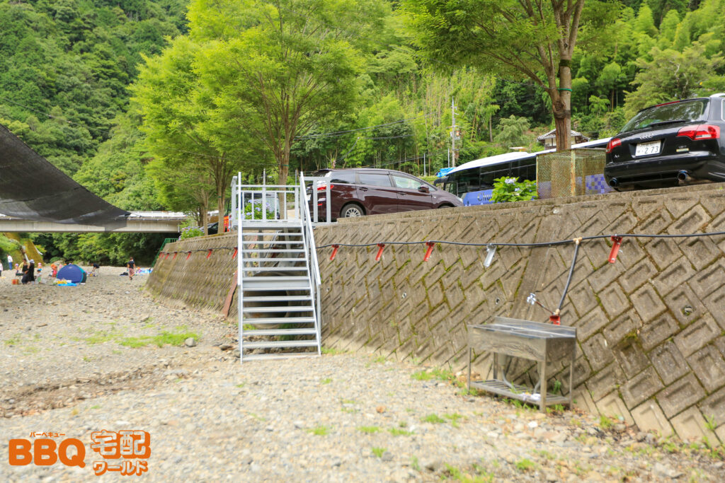 滝畑湖畔BBQ場の水道