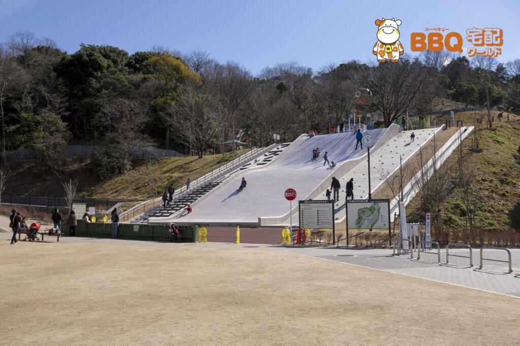 永楽ゆめの森公園の大型滑り台