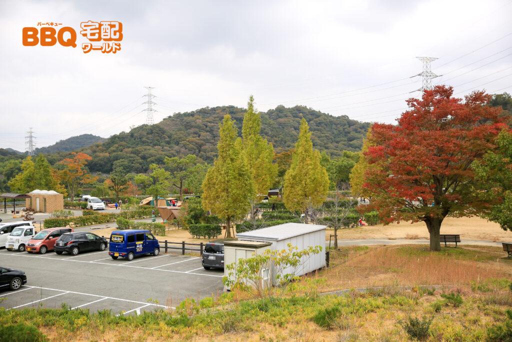 権現総合公園キャンプ場の全景
