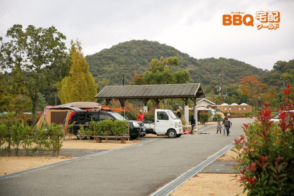 権現総合公園キャンプ場オートサイトの利用風景