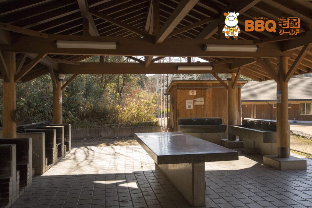 熊取町野外活動ふれあい広場の炊飯棟内部