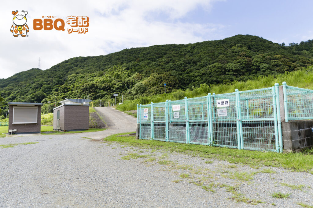 野口オートキャンプ場ゴミ箱