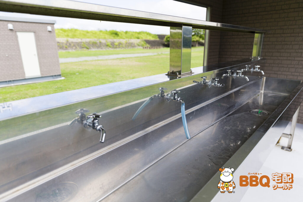 野口オートキャンプ場炊事場の水道