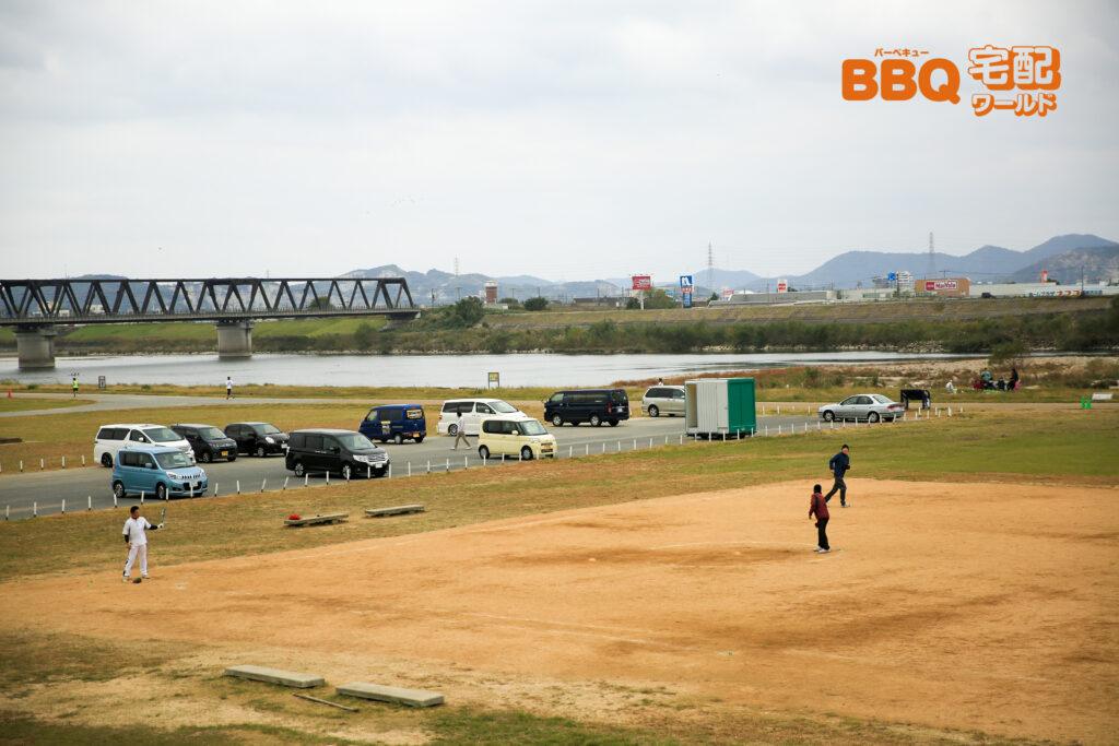 加古川河川敷緑地河原地区の小グラウンド
