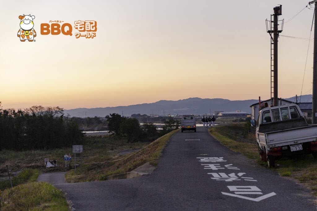 紀ノ川BBQエリアへの降り口