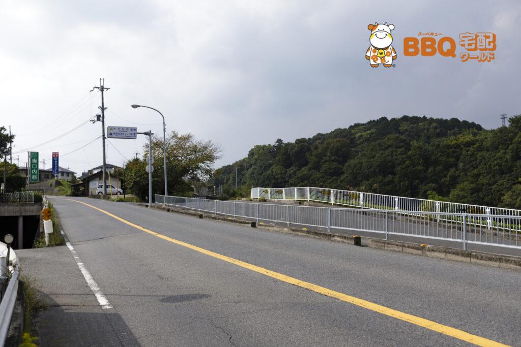 貴志川河川敷BBQ場降り口までの道