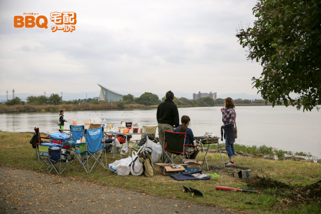 湖岸緑地BBQ風景