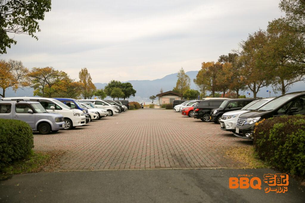 湖岸緑地(山田新浜地区)の駐車場