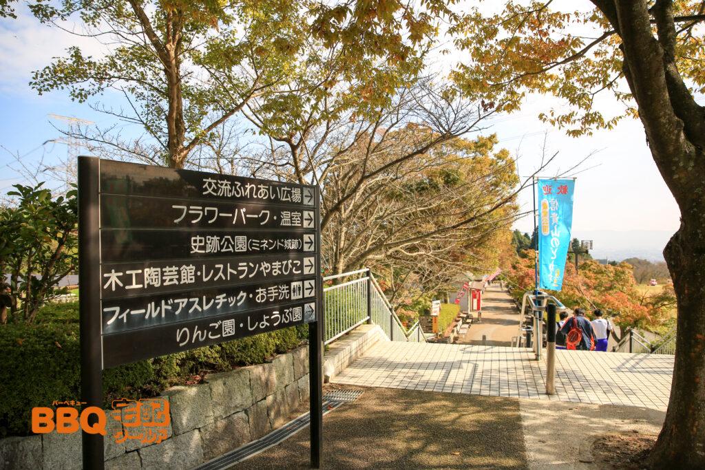 信貴山のどか村デイキャンプ場への道