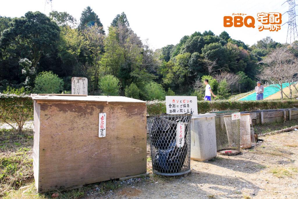 信貴山のどか村のゴミ箱