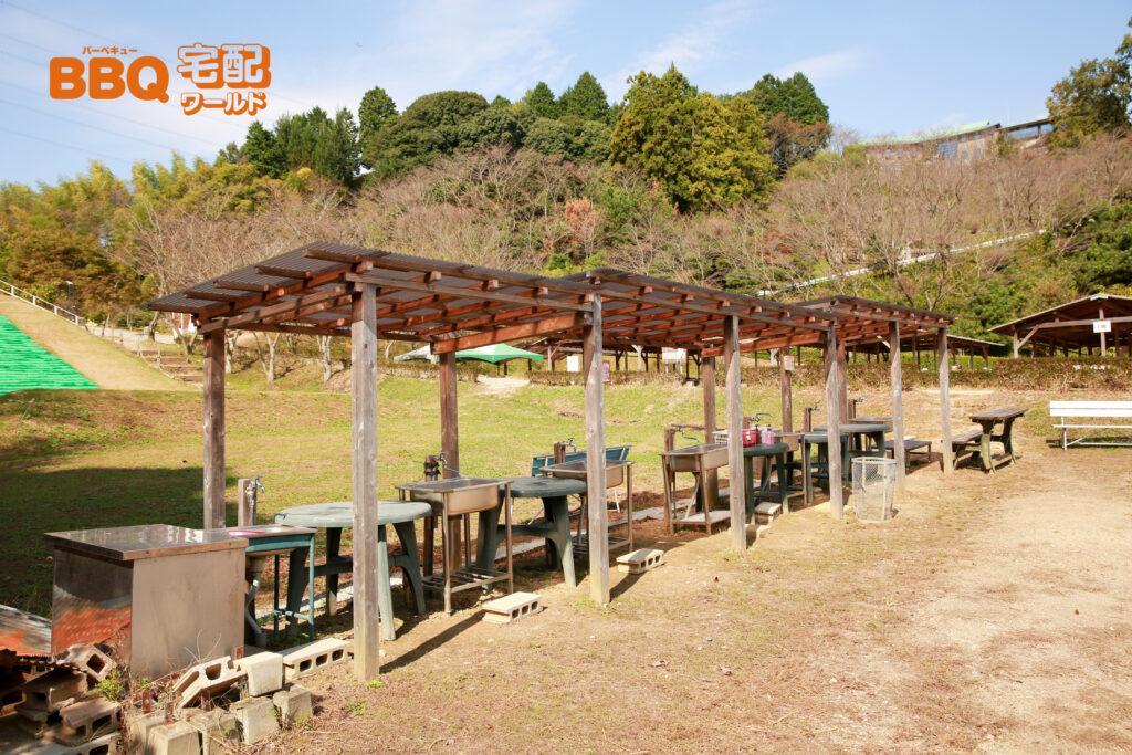 信貴山のどか村のデイキャンプ場の炊事場