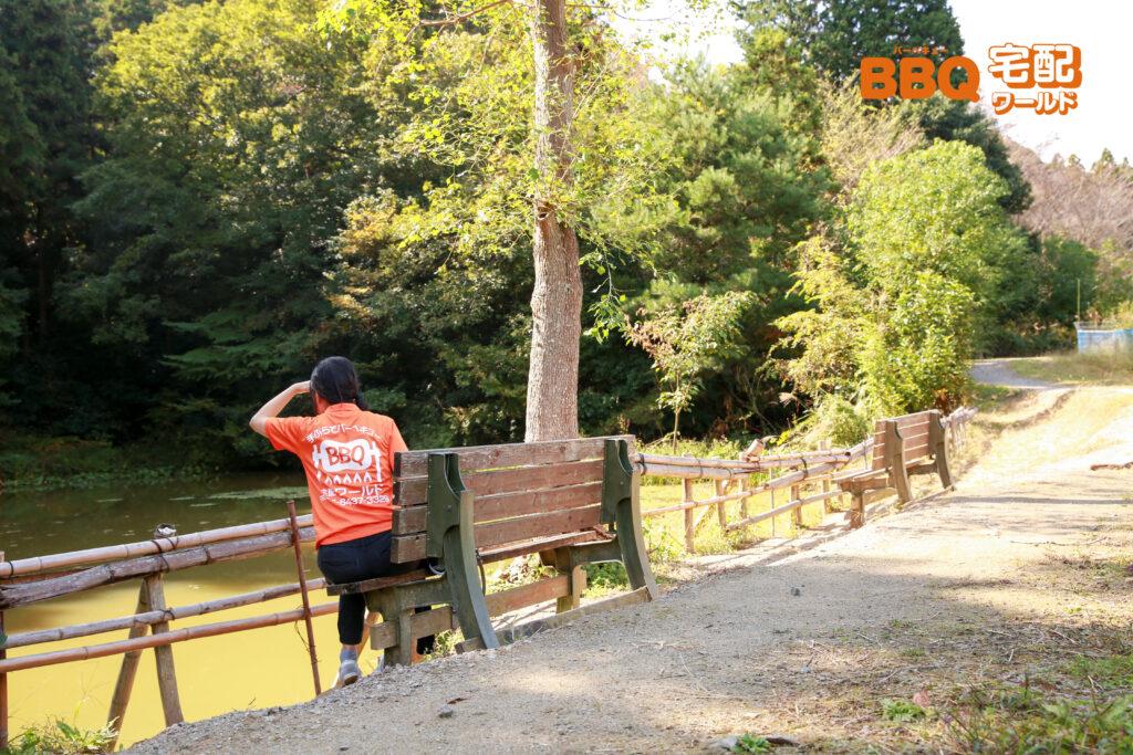 信貴山のどか村の釣り池
