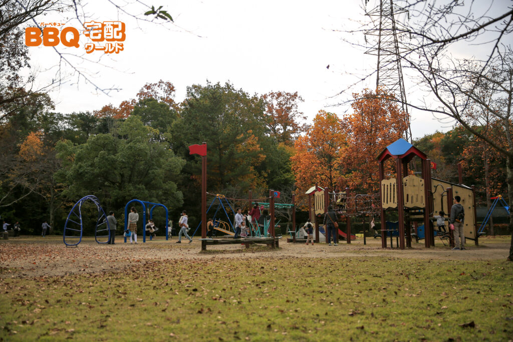 ロクハ公園の遊具広場
