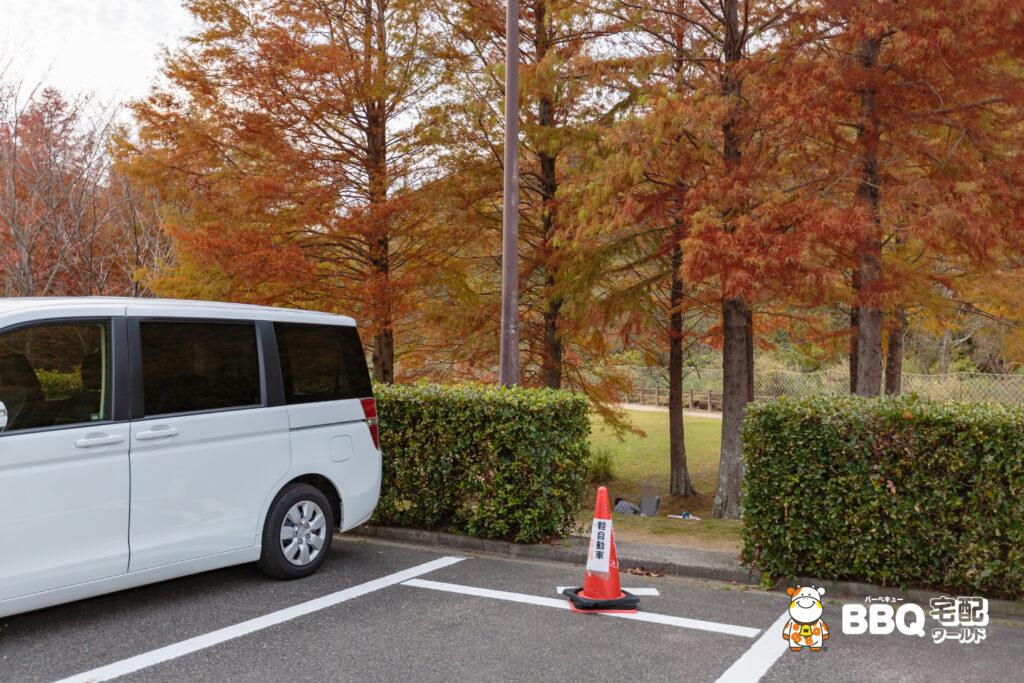 青野公園の駐車場抜け道