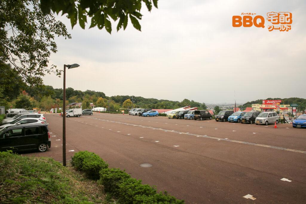 道の駅しらとりの郷の駐車場