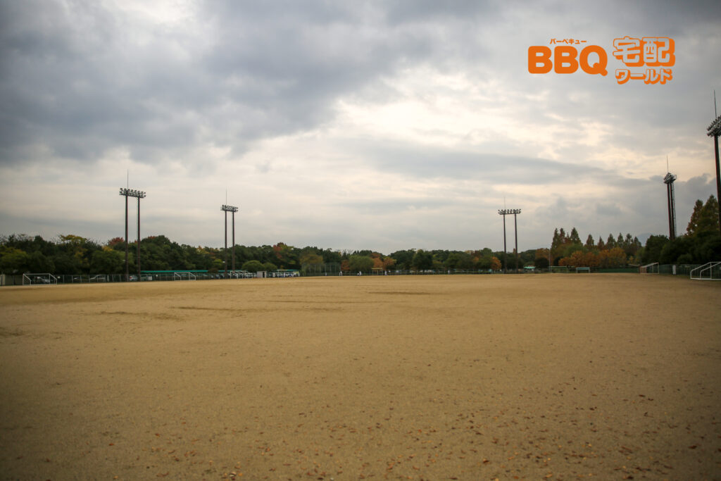 矢橋帰帆島公園の多目的グラウンド