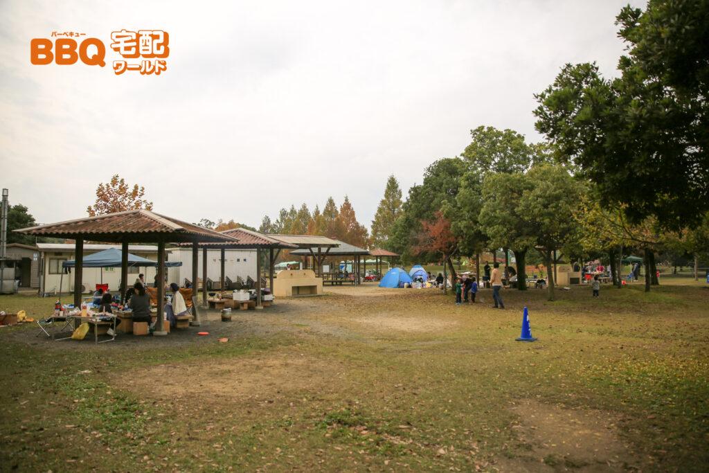 矢橋帰帆島公園BBQ場の個人エリア