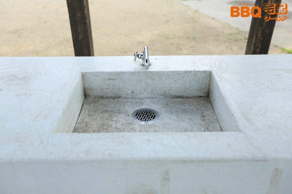 舟渡池公園BBQエリア炊事場の水道