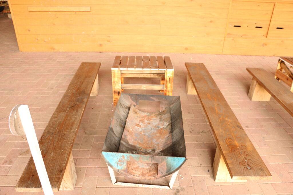 グリーンエコー笠形の多目的グリーンドームBBQ炉