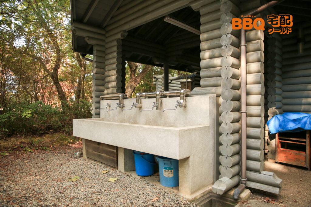 三木山森林公園BBQ広場の水道