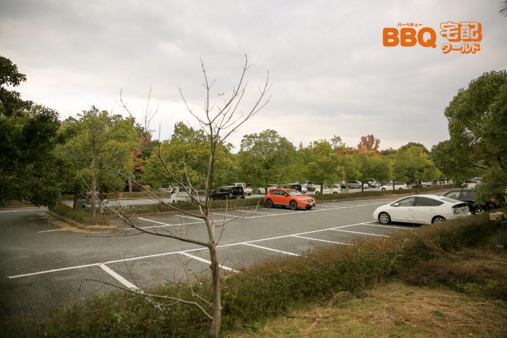 三木山森林公園の第2駐車場