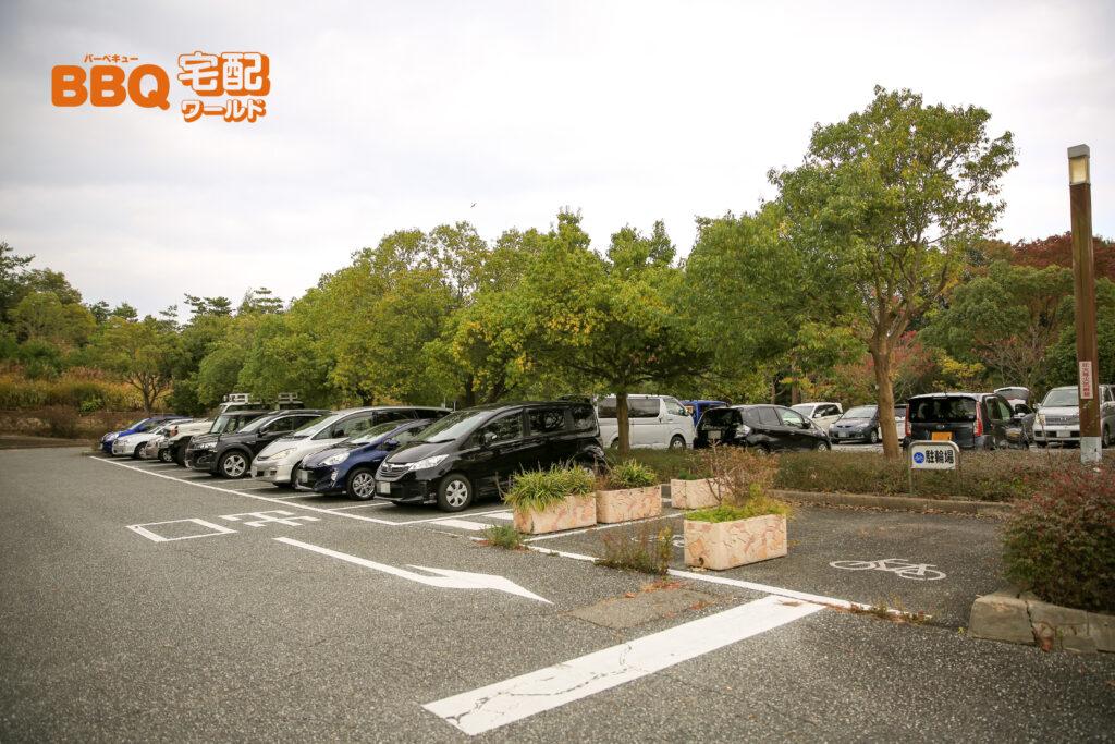 三木山森林公園の第3駐車場