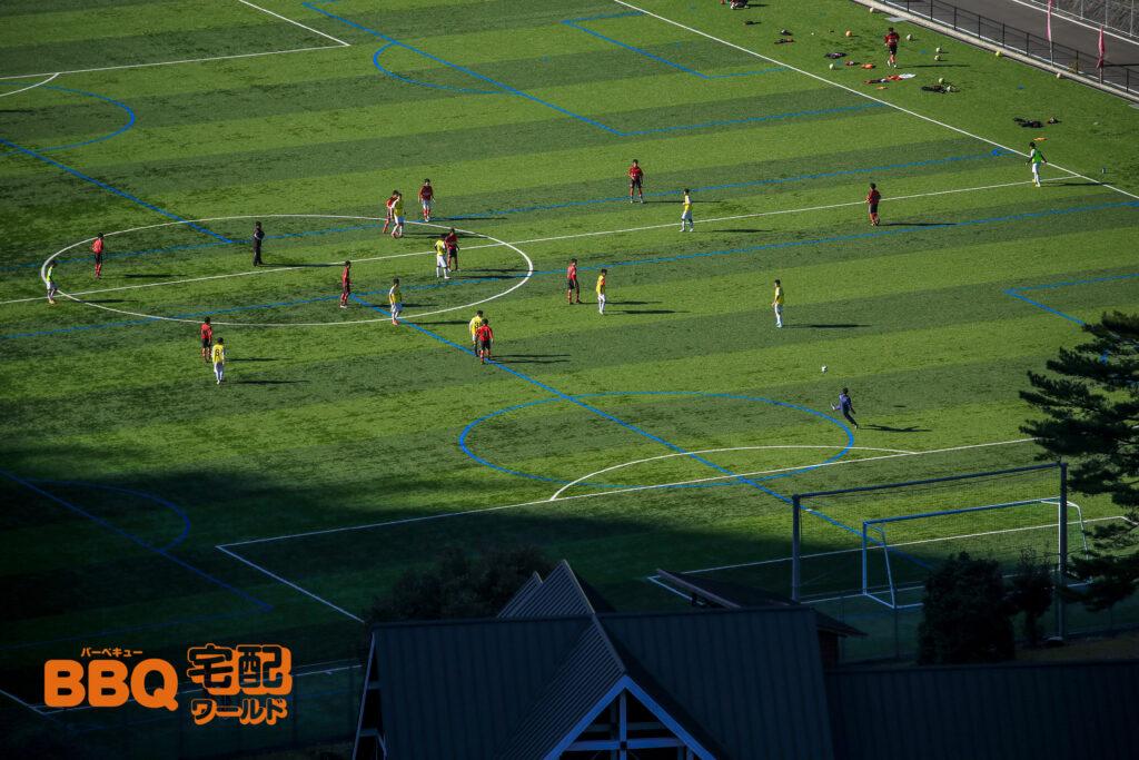 下北山スポーツ公園サッカーグラウンド全景