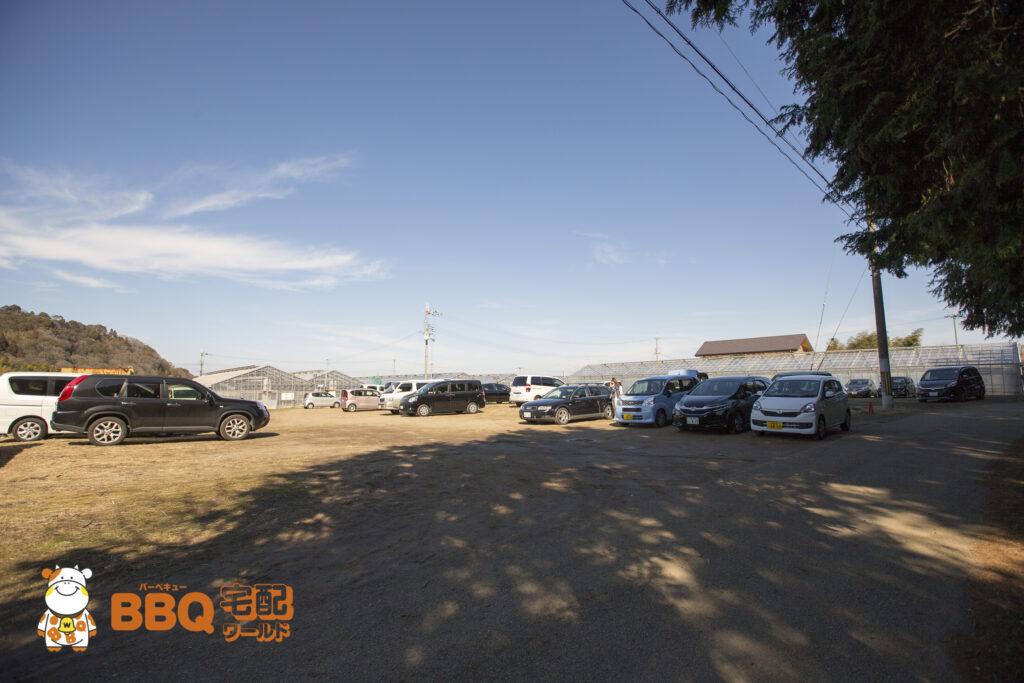 岸和田観光農園の駐車場